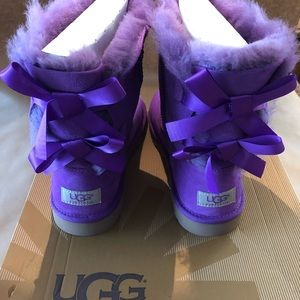 Petunia colored UGG Bailey Bow Boots